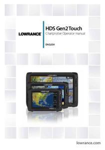HDS Gen2 Touch Chartplotter Operator manual