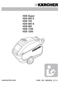 HDS Super HDS 695 S HDS 745 HDS 895 S HDS 995 HDS 1195 HDS 1295