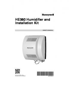 HE360 Humidifier and Installation Kit