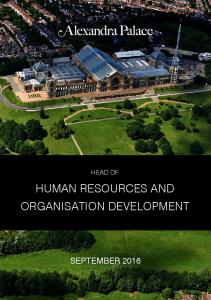HEAD OF HUMAN RESOURCES AND ORGANISATION DEVELOPMENT