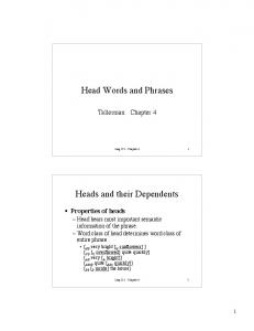 Head Words and Phrases