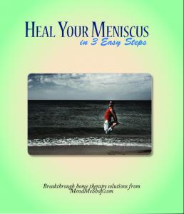 Heal Your Meniscus. in 3 Easy Steps. Breakthrough home therapy solutions from MendMeShop.com
