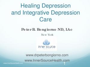 Healing Depression and Integrative Depression Care