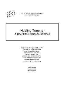 Healing Trauma: A Brief Intervention for Women