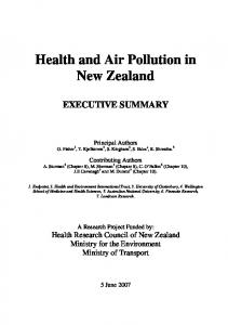 Health and Air Pollution in New Zealand