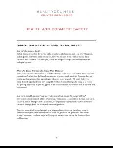 health and cosmetic safety