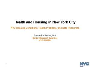 Health and Housing in New York City