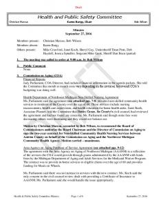 Health and Public Safety Committee