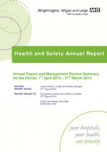 Health and Safety Annual Report