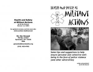 Health and Safety... at Militant Actions