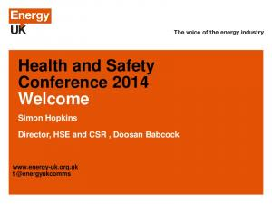 Health and Safety Conference 2014 Welcome