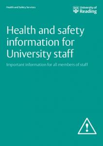 Health and safety information for University staff