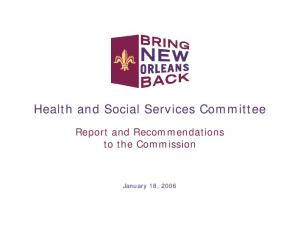 Health and Social Services Committee