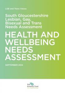 HEALTH AND WELLBEING NEEDS ASSESSMENT