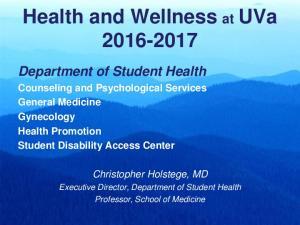 Health and Wellness at UVa