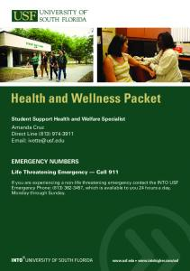 Health and Wellness Packet