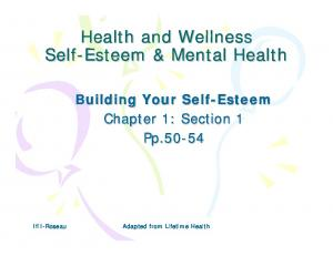Health and Wellness Self-Esteem & Mental Health