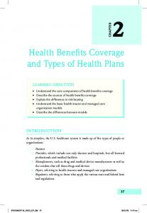 Health Benefits Coverage and Types of Health Plans