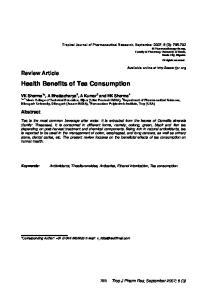 Health Benefits of Tea Consumption