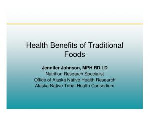 Health Benefits of Traditional Foods