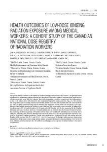 Health Canada, Ottawa, Ontario, Canada Radiation Protection Bureau