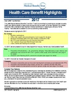 Health Care Benefit Highlights