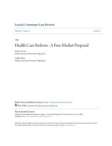 Health Care Reform - A Free-Market Proposal