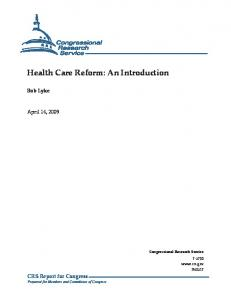 Health Care Reform: An Introduction