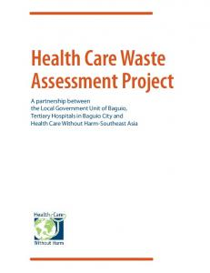 Health Care Waste Assessment Project