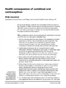 Health consequences of combined oral contraceptives