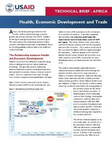 Health, Economic Development and Trade