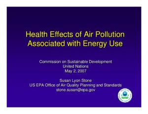 Health Effects of Air Pollution Associated with Energy Use
