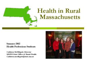 Health in Rural Massachusetts