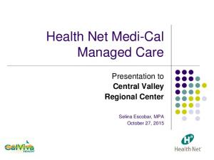 Health Net Medi-Cal Managed Care