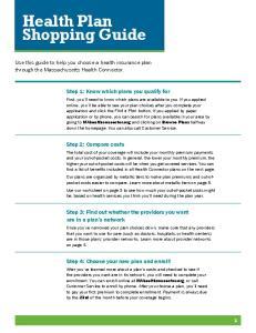 Health Plan Shopping Guide