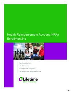 Health Reimbursement Account (HRA) Enrollment Kit