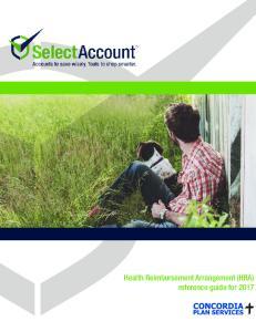 Health Reimbursement Arrangement (HRA) reference guide for Plan Services