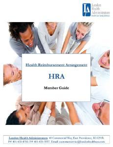 Health Reimbursement Arrangement (HRA)