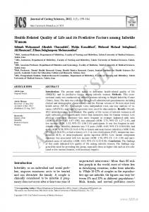 Health-Related Quality of Life and its Predictive Factors among Infertile Women