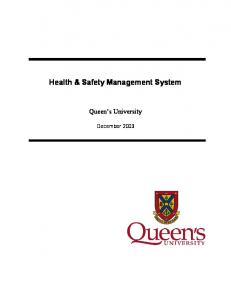 Health & Safety Management System