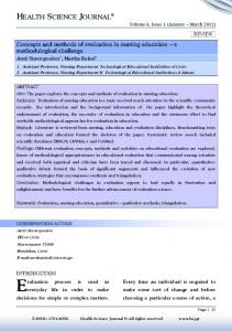 HEALTH SCIENCE JOURNAL Volume 6, Issue 1 (January March 2012)