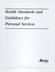 Health Standards and Guidelines for Personal Services