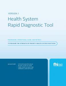 Health System Rapid Diagnostic Tool