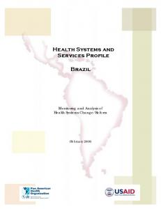 Health Systems and Services Profile. Brazil