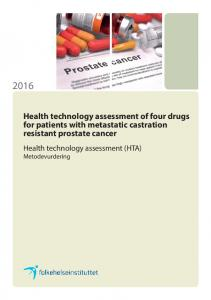 Health technology assessment of four drugs for patients with metastatic castration resistant prostate cancer