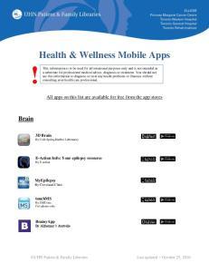 Health & Wellness Mobile Apps!