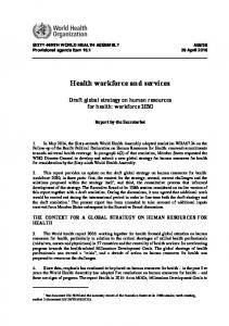 Health workforce and services