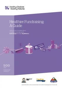 Healthier Fundraising: A Guide