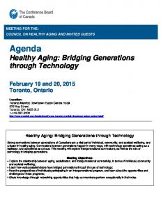 Healthy Aging: Bridging Generations through Technology