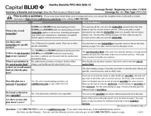 Healthy Benefits PPO HSA
